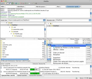 FileZilla pour Mac OS X