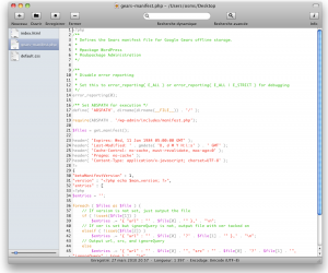 Smultron PHP Editor Mac